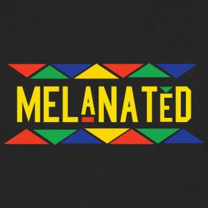 Melanated (Yellow Letters) - Men's Premium Long Sleeve T-Shirt