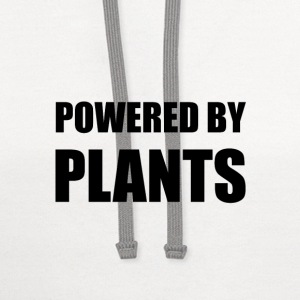 Powered By Plants T-Shirts - Contrast Hoodie