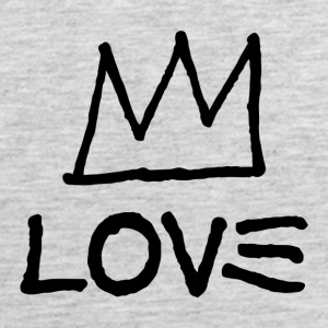 Love - Artistic Crown Design (Black) - Men's Premium Tank
