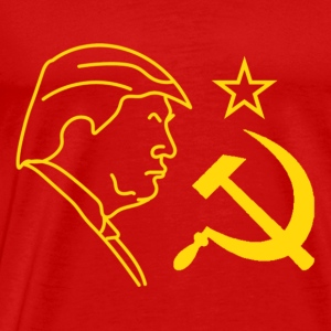 Trump Hammer and Sickle Tanks - Men's Premium T-Shirt