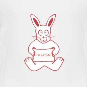 Cute Rabbit - Toddler Premium T-Shirt