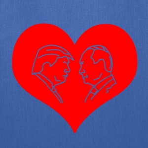 Trump Putin Red Heart Tanks - Tote Bag