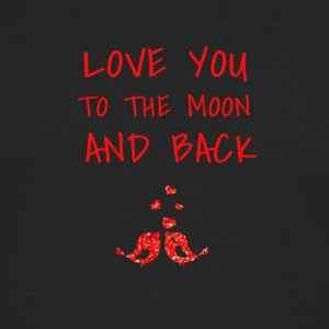 love you to the moon and back - Men's Premium Long Sleeve T-Shirt
