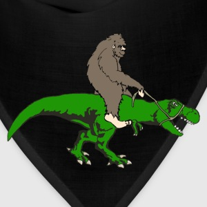 Bigfoot riding T rex - Bandana