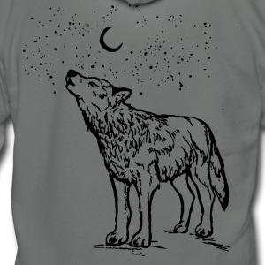Wolf Moon - Unisex Fleece Zip Hoodie by American Apparel