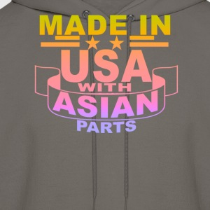 made_in_usa_with_asian_parts_ - Men's Hoodie