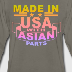 made_in_usa_with_asian_parts_ - Men's Premium Long Sleeve T-Shirt