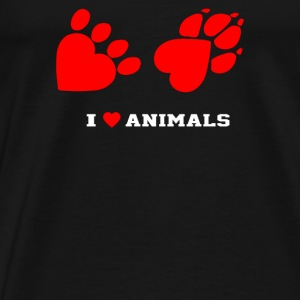 I Love Animals - Men's Premium T-Shirt