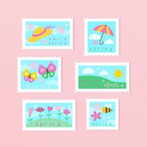Spring Stamp Collection T-Shirts - Kids' Hoodie