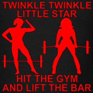 Twinkle Twinkle Little Star Hit The Gym And Lift T - Men's T-Shirt