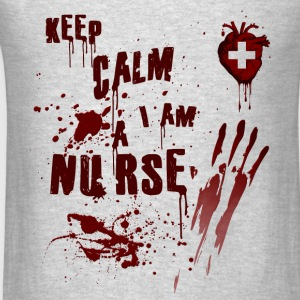 Bloody Nurse Keep Calm Long Sleeve Shirts - Men's T-Shirt