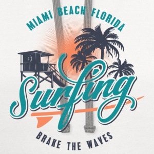 Miami Florida Surfing T-Shirts - Contrast Hoodie