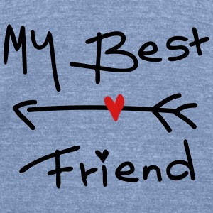 My best friend Women's Wideneck Sweatshirt - Unisex Tri-Blend T-Shirt by American Apparel