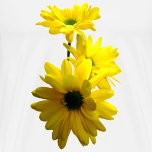 Three Bright Yellow Daisies Other - Men's Premium T-Shirt