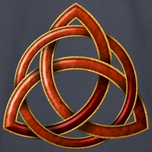 Celtic Triquetra - Copper and Gold - Kids' Long Sleeve T-Shirt