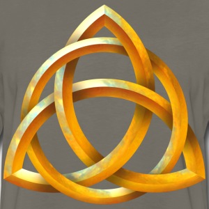 Celtic Triquetra - Beveled Gold - Men's Premium Long Sleeve T-Shirt