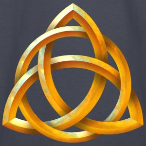 Celtic Triquetra - Beveled Gold - Kids' Long Sleeve T-Shirt