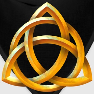 Celtic Triquetra - Beveled Gold - Bandana