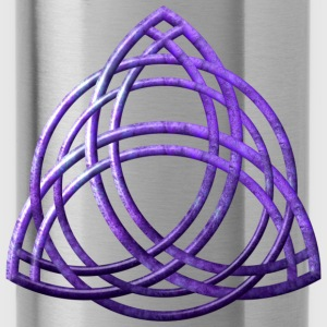 Celtic Triquetra - Purple - Water Bottle