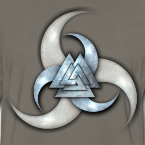 Odin's Triple Horns with Valknut - Men's Premium Long Sleeve T-Shirt