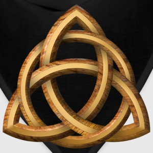 Celtic Triquetra - Wood and Gold - Bandana
