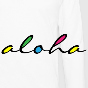 ALOHA colourful - Men's Premium Long Sleeve T-Shirt