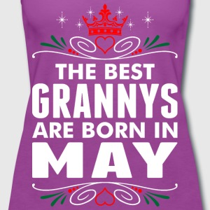 The Best Grannys Are Born In May T-Shirts - Women's Premium Tank Top