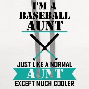 I'M A Baseball Aunt Just Like A Normal Aunt Excep Long Sleeve Shirts - Contrast Hoodie