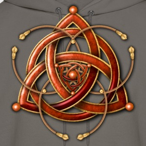 Celtic Triquetra - Copper and Gold - Men's Hoodie