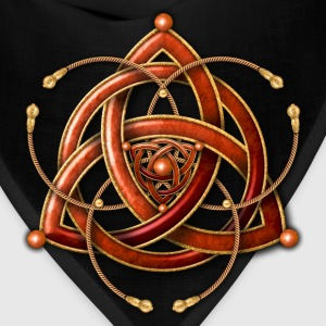 Celtic Triquetra - Copper and Gold - Bandana