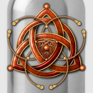 Celtic Triquetra - Copper and Gold - Water Bottle