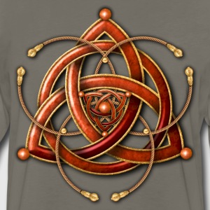 Celtic Triquetra - Copper and Gold - Men's Premium Long Sleeve T-Shirt