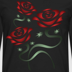 Red Roses T-Shirts - Men's Premium Long Sleeve T-Shirt