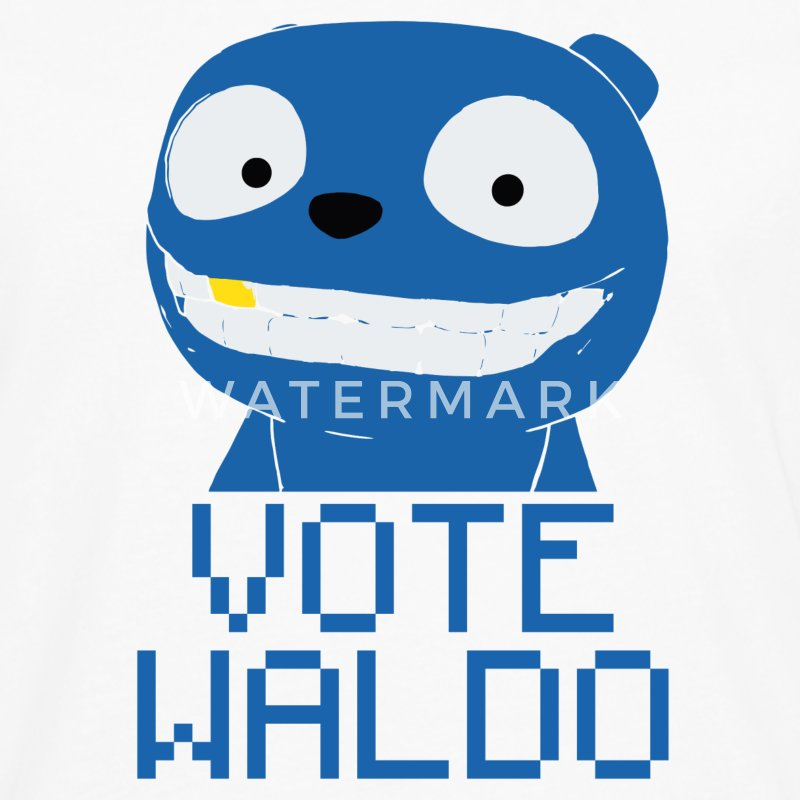 Vote Waldo – Black Mirror Long Sleeve Shirts - Men's Premium Long Sleeve T-Shirt