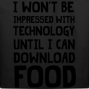 Until I can download food T-Shirts - Eco-Friendly Cotton Tote