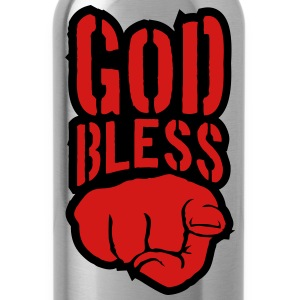 Bless god bless you finger show hand funny god jes T-Shirts - Water Bottle
