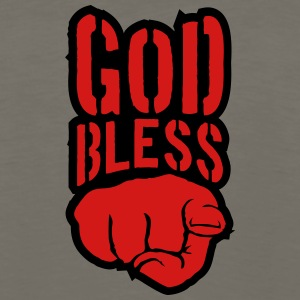Bless god bless you finger show hand funny god jes T-Shirts - Men's Premium Long Sleeve T-Shirt