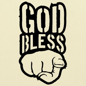 Bless god bless you finger show hand funny god jes T-Shirts - Eco-Friendly Cotton Tote