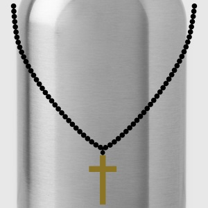 Rosary, necklace, cross, life, faith, christ, cool T-Shirts - Water Bottle