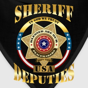 Sheriff - Sheriff - In God we trust. USA deputies - Bandana