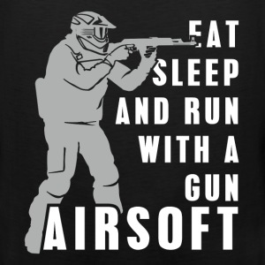Airsoft - Eat, sleep and run with a gun Airsoft - Men's Premium Tank