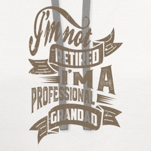 Professional Grandad. T-shirt for Him! - Contrast Hoodie