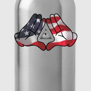 Mickey Mouse Diamond Hands AMERICA - Water Bottle