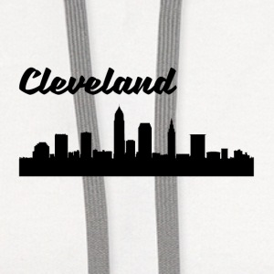 Cleveland OH Skyline - Contrast Hoodie