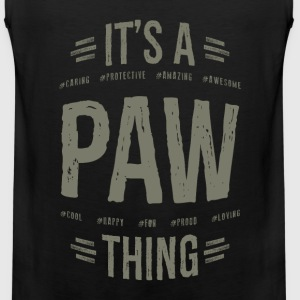 Paw T-shirts Gifts - Men's Premium Tank