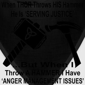 When Thor Throws His Hammer He Is Serving Justice  - Bandana