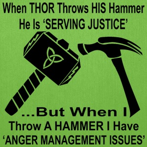 When Thor Throws His Hammer He Is Serving Justice  - Tote Bag