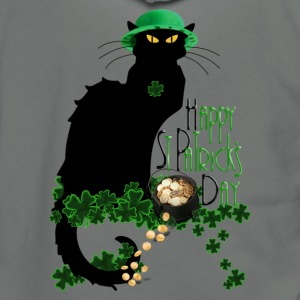 St Patrick's Day - Le Chat Noir  - Unisex Fleece Zip Hoodie by American Apparel