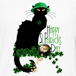 St Patrick's Day - Le Chat Noir  - Men's Premium Long Sleeve T-Shirt