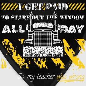 Truck Driverr Stare Out The Window All Day Long Sleeve Shirts - Bandana